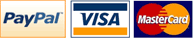 We accept: PayPal Visa Mastercard
