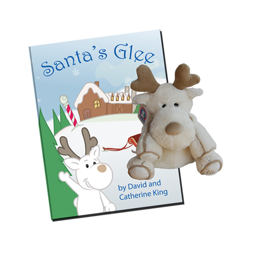 Santa's Glee with White Reindeer Plush